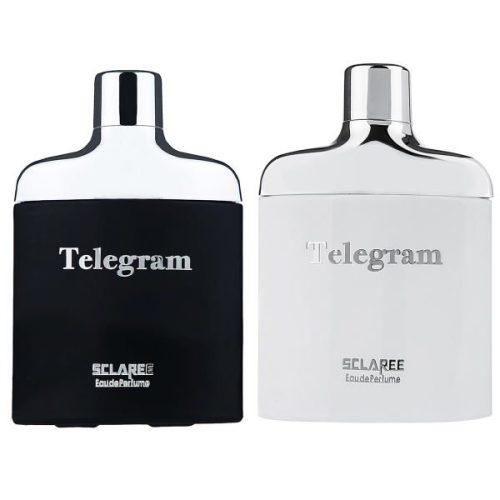 ادو پرفیوم مردانه اسکلاره مدل تلگرام حجم 82 میلی لیتر بههمراه ادو پرفیوم زنانه اسکلاره مدل تلگرام حجم 85 میلی لیتر