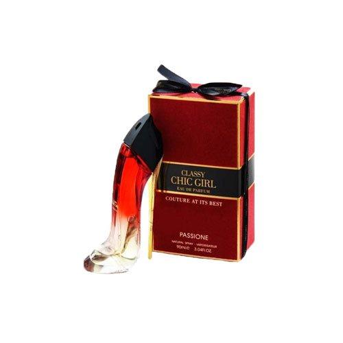 عطر زنانه کارولینا هررا گودگرل ولوت فتال کفشی قرمزفراگرنس وردچیک گرل پشن(Fragrance Classy Chic Girl Passione)حجم 90 میل