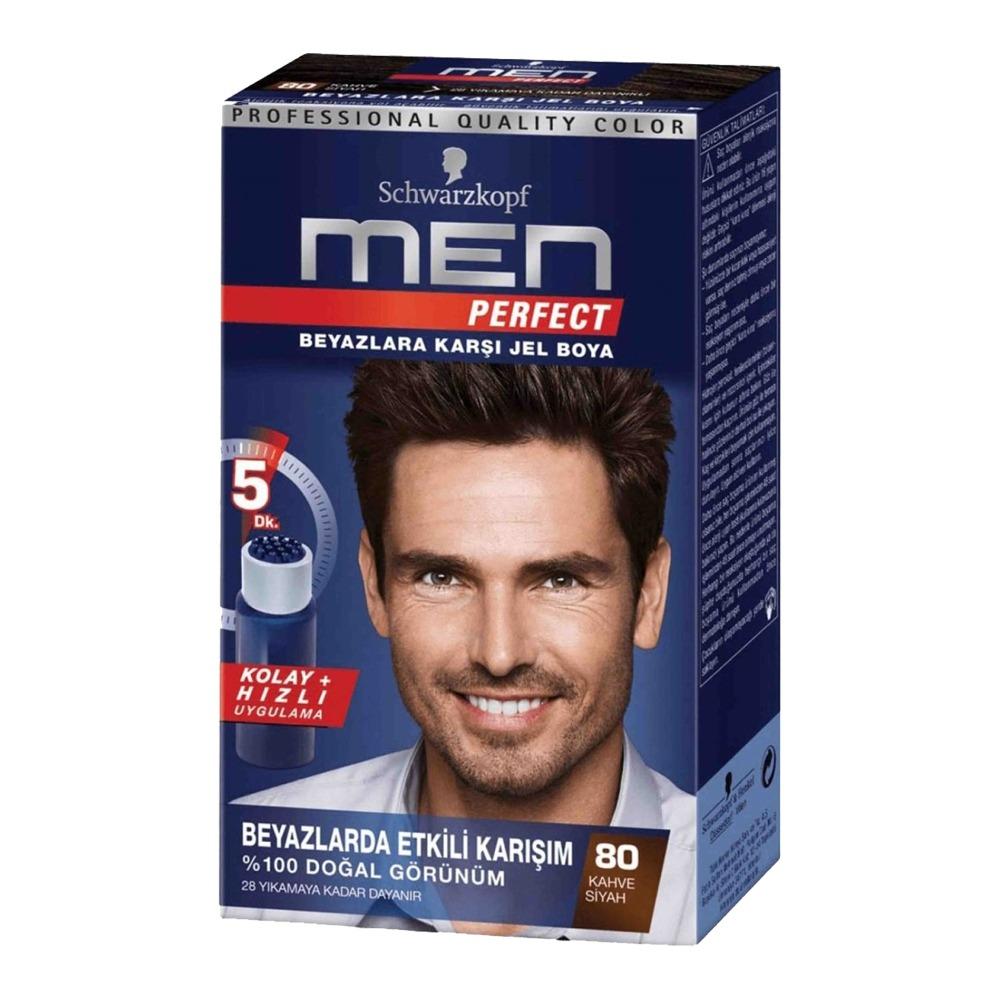 کیت رنگ موی مردانه شوارتزکف مدل Men Perfect حجم 40 میل - شماره 80