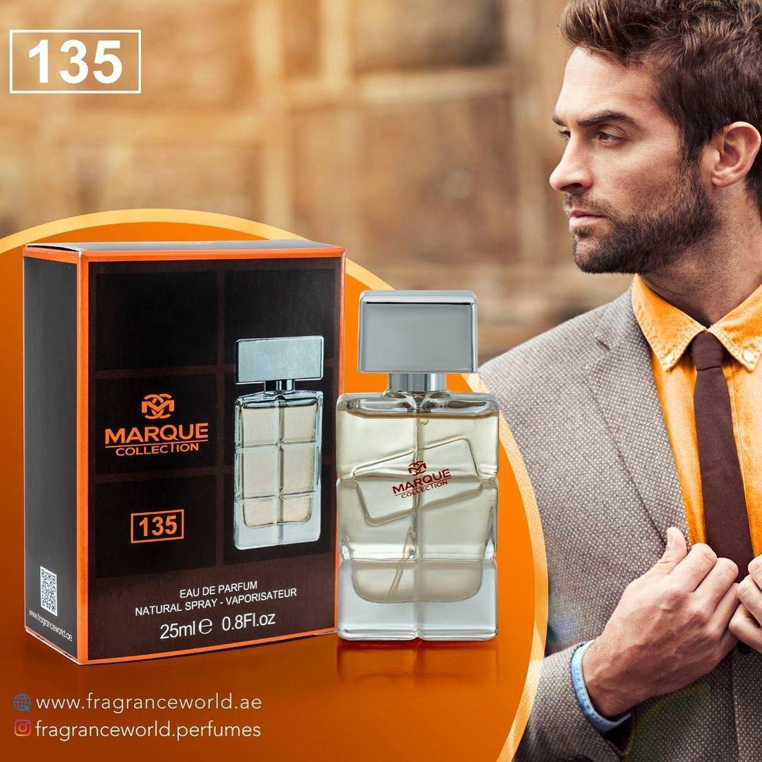 عطر ادکلن مردانه هوگو بوس اورنج فراگرنس ورد مارکویی کالکشن کد ۱۳۵ ( Marque Collection Fragrance World)25 میل
